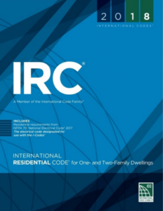 International Residential Code for One and Two Family Dwellings 2018